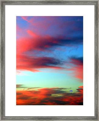 Blushed Sky Framed Print