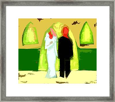 Blushing Bride And Groom 2 Framed Print by Patrick J Murphy