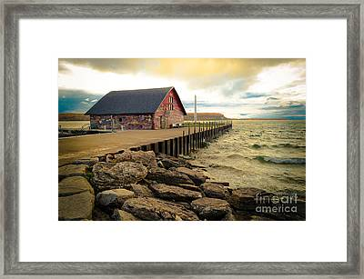 Blustery Day At Anderson Barn Framed Print by Mark David Zahn