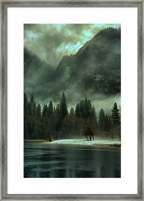 Blustery Yosemite Framed Print