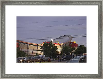 Bmo Parking Royal Event Framed Print by Donna Munro