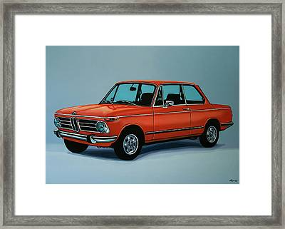 Bmw 2002 1968 Painting Framed Print by Paul Meijering