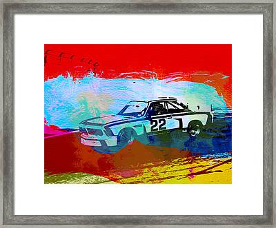 Bmw 3.0 Csl Racing Framed Print