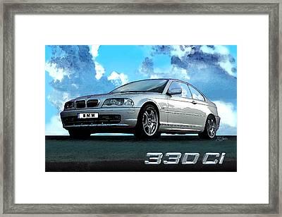 Bmw 330ci Framed Print