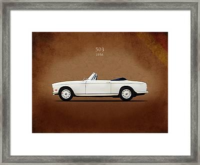 Bmw 503 1956 Framed Print by Mark Rogan