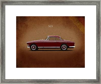 Bmw 503 Coupe 1956 Framed Print by Mark Rogan