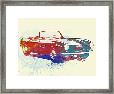 Bmw 507 Framed Print by Naxart Studio