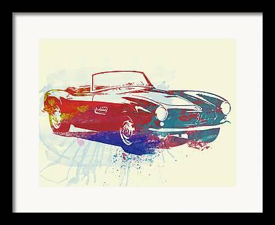 Bmw Watercolor Framed Prints