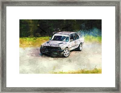 Bmw Drift Framed Print by Kristian Leov