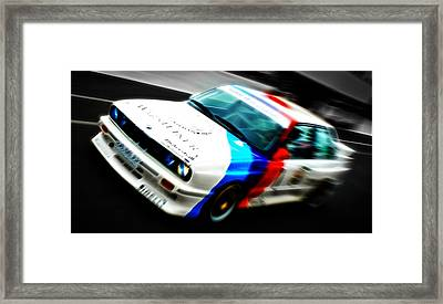 Bmw E30 M3 Racing Framed Print by Phil 'motography' Clark