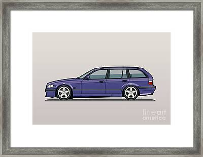 Bmw E36 328i 3-series Touring Wagon Techno Violet Framed Print