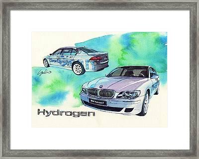 Bmw Hydrogen 7 Framed Print