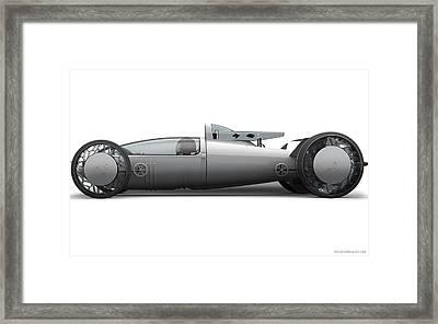 Bmw Hydrogen Salt Racer 2 Wide Framed Print
