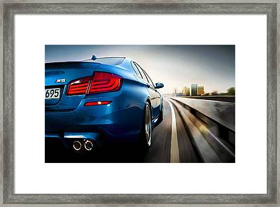 BMW Framed Print by Lanjee Chee
