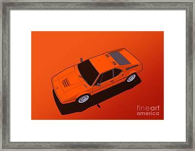 Bmw M1 E26 Red Orange Framed Print by Monkey Crisis On Mars