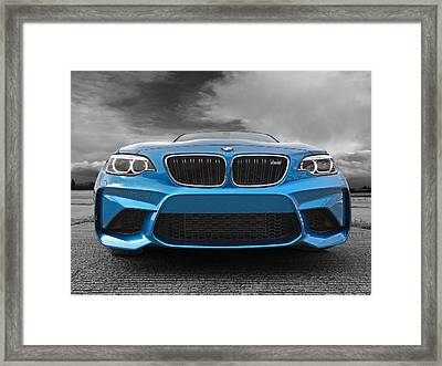 Bmw M2 Coming At You Framed Print