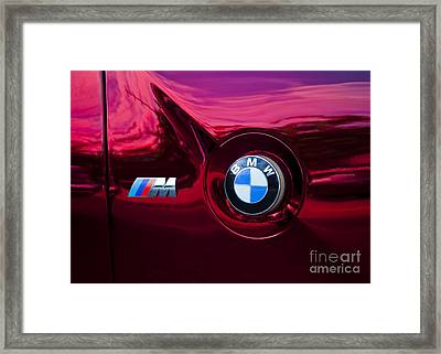 Bmw M3 Badges Framed Print