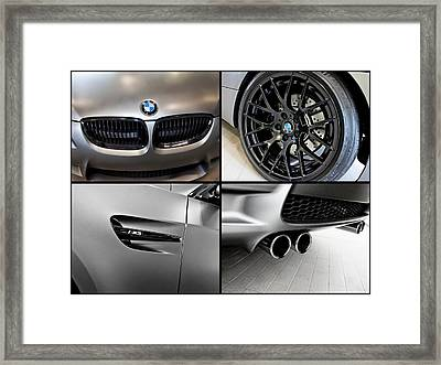 Framed Print featuring the photograph Bmw M3 Collage by Aaron Berg