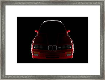 Bmw M3 E30 - Front View Framed Print