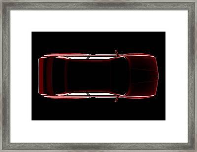 Bmw M3 E30 - Top View Framed Print