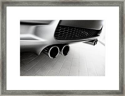 Framed Print featuring the photograph Bmw M3 Exhaust  by Aaron Berg