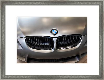 Framed Print featuring the photograph Bmw M3 Hood by Aaron Berg