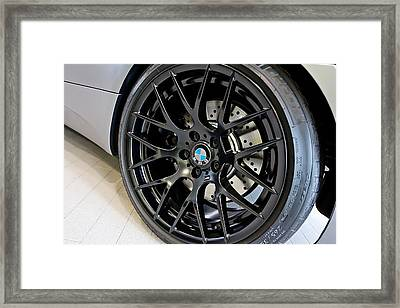 Framed Print featuring the photograph Bmw M3 Wheel by Aaron Berg