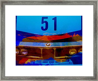 Bmw Racing Colors Framed Print by Naxart Studio