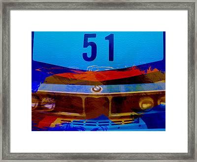 Bmw Racing Colors Framed Print by Naxart Studio