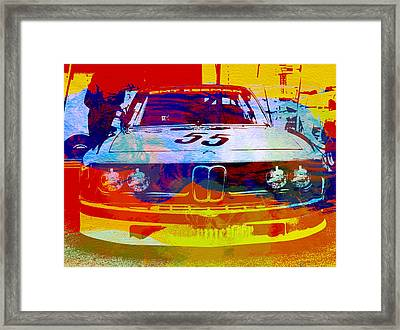Bmw Racing Framed Print by Naxart Studio
