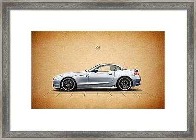 Bmw Z4 Framed Print by Mark Rogan