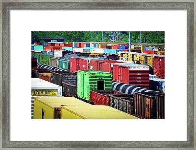 Bnsf Lindenwood Yard Framed Print