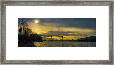 Bnsf Railroad Bridge 5.1 Framed Print