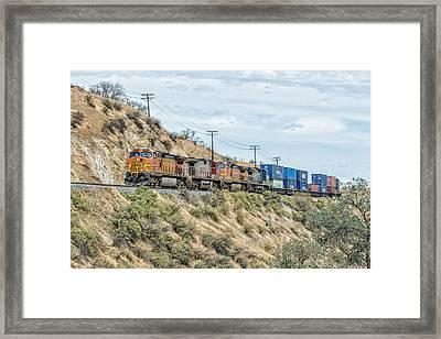Bnsf5256 Framed Print by Jim Thompson