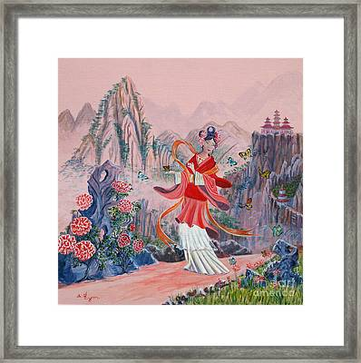 Framed Print featuring the painting Bo Chaa by Anthony Lyon