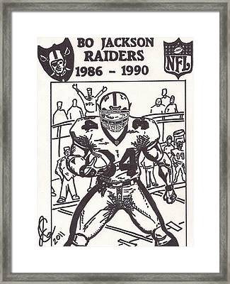 Bo Jackson 1 Framed Print by Jeremiah Colley