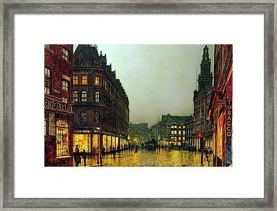 Boar Lane Framed Print by John Atkinson Grimshaw