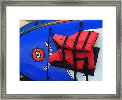 Board And Life Jacket Framed Print by Art Block Collections