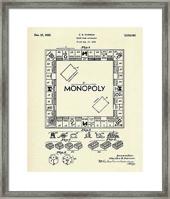 Board Game Apparatus-1935 Framed Print by Pablo Romero