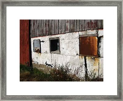 Boarded Up Framed Print by Sheryl Burns