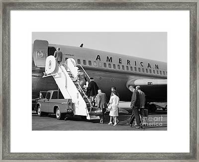 Boarding American Airlines Framed Print
