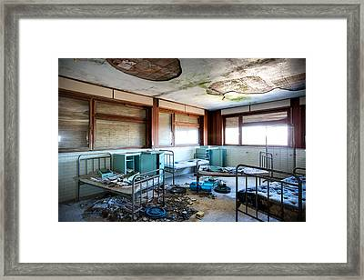 Boarding School Nightmare - Abandoned Building Framed Print by Dirk Ercken