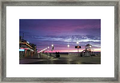 Framed Print featuring the photograph Boards Under Colorful Skies by Robert Banach