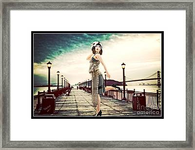 Boardwalk 1920 Framed Print