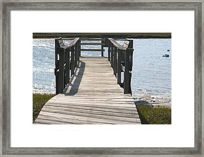 Boardwalk Framed Print by Amy Holmes