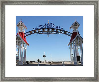 Boardwalk Arch At N Division St Framed Print