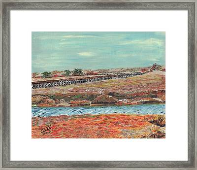 Boardwalk At Sandwich Ma Framed Print
