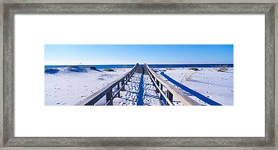 Boardwalk At Santa Rosa Island Framed Print by Panoramic Images
