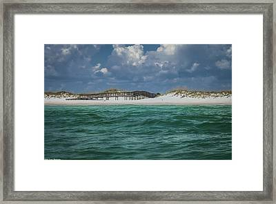 Boardwalk At Shell Island  Framed Print