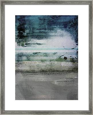 Boardwalk Blues 2- Art By Linda Woods Framed Print by Linda Woods